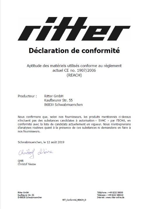 declaration de conformite